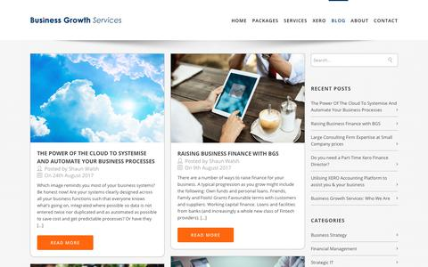 Screenshot of Blog businessgrowthservices.co - Cloud Accounting, Finance Directors, Business Consultants - captured Jan. 22, 2020