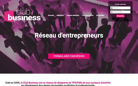 Screenshot of Home Page club-business.fr - Club Business - Club d'entrepreneur et de dirigeant / réseau d'affaire et d'entrepreneurs angers - paris - captured March 23, 2017