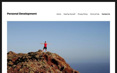 Screenshot of Contact Page comedyninja.org - Contact Us - Personal Development - captured July 9, 2017