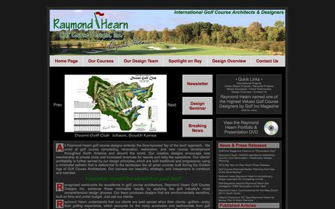 Screenshot of Home Page rhgd.com - Raymond Hearn Golf Course Designs, Inc., Golf Course Design and Architecture - captured Oct. 6, 2014