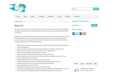 Screenshot of About Page facilitatorguide.net - Facilitator Guide Facilitator Guide - About Us - captured Sept. 30, 2014