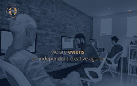 Screenshot of Home Page ewencom.com - Ewens Design - captured Sept. 6, 2017