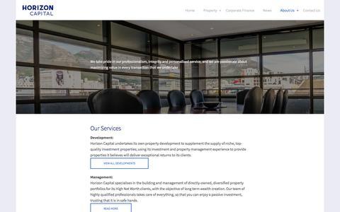 Screenshot of About Page horizoncapital.co.za - About Us - Horizon Capital - captured May 22, 2017