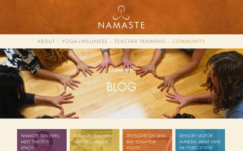 Screenshot of Blog ilovenamaste.com - Blog - Namaste - captured Nov. 5, 2014