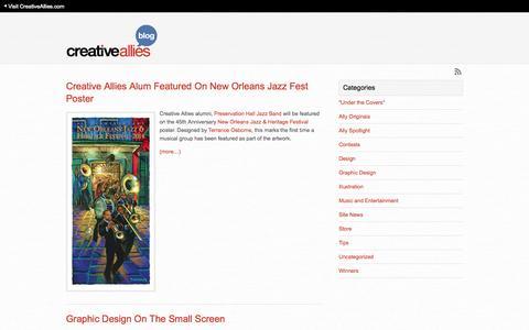 Screenshot of Blog creativeallies.com - Creative Allies Blog - captured Sept. 13, 2014