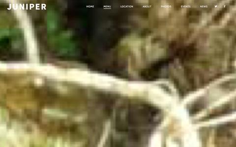 Screenshot of Menu Page junipershop.com - Menu | JUNIPER - captured Dec. 11, 2015