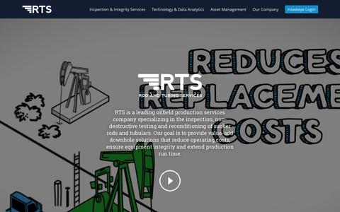 Screenshot of Home Page rodservices.com - Rod And Tubing Services - captured Sept. 25, 2018