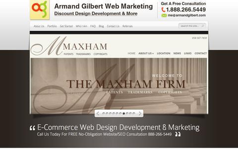Screenshot of Home Page armandgilbert.com - Armand Gilbert Web Design & Marketing | Web Design, Development, SEO, SEM & More. - captured Jan. 29, 2017