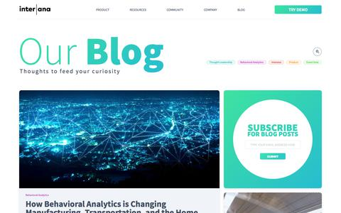 The Behavioral Analytics Blog | Interana