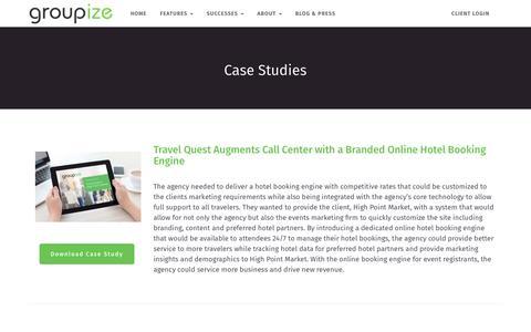 Screenshot of Case Studies Page groupize.com - Case Studies – Groupize – Meetings Simplified - captured April 9, 2019