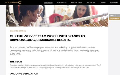 Direct to Brand Marketing Solution | Conversant