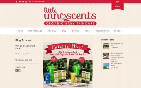 Screenshot of Blog littleinnoscents.com.au - Blog Archives - Little Innoscents - captured Sept. 30, 2014