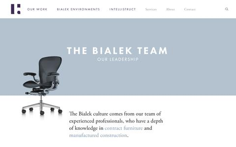Screenshot of Team Page bialek.com - Bialek - Premier Herman Miller and DIRTT Partners - captured Oct. 10, 2017