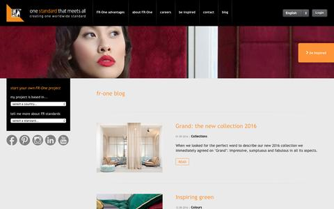 Screenshot of Blog fr-one.com - FR-one - one standard that meets all , creating one worldwide standard - captured Sept. 24, 2016