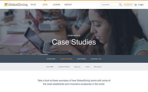 Screenshot of Case Studies Page globalgiving.org - Case Studies - GlobalGiving - captured June 12, 2017