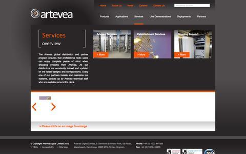 Screenshot of Services Page artevea.com - Artevea: Services - captured Oct. 4, 2014