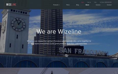 Screenshot of About Page wizeline.com - About Wizeline: #1 Product Management Software - captured Nov. 10, 2015