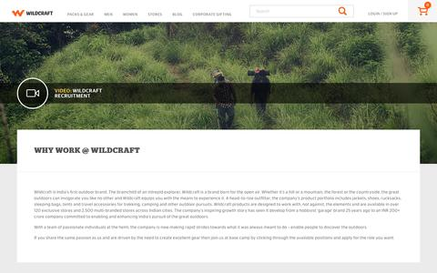 Screenshot of Jobs Page wildcraft.in - Work at Wildcraft - captured May 21, 2017