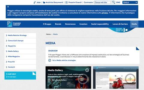 Screenshot of Press Page piaggiogroup.com - MEDIA | Gruppo Piaggio - captured May 17, 2017