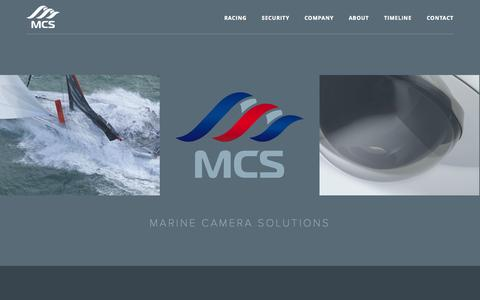 Screenshot of Home Page marinecamerasolutions.com - Marine Camera Solutions - Extreme Cameras, Media Systems and Marine Security Cameras - captured Oct. 4, 2014
