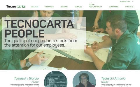 Screenshot of Team Page tecnocarta.net - Tecnocarta - captured Feb. 28, 2016