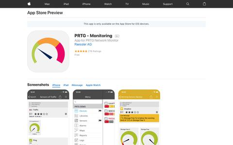 PRTG - Monitoring on the AppStore