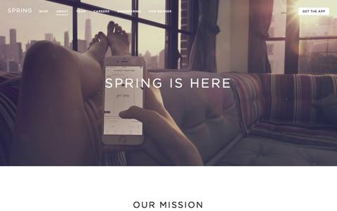 Screenshot of About Page shopspring.com - Spring: About Spring - captured March 30, 2016