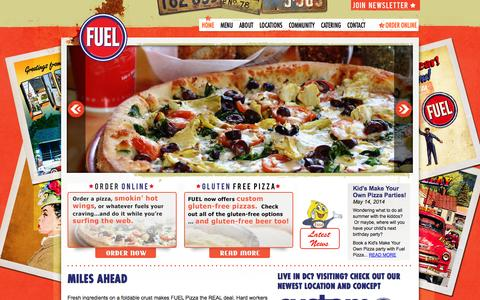 Screenshot of Home Page fuelpizza.com - FUEL Pizza | Pizza Café - captured Oct. 6, 2014