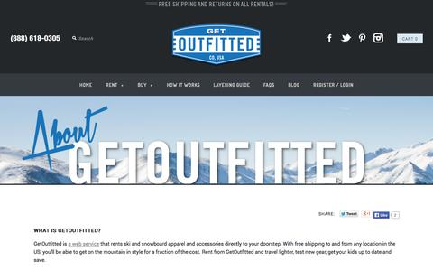 Screenshot of About Page getoutfitted.com - About GetOutfitted   The Ski and Snowboard Gear Rental Web Service - captured Sept. 16, 2014