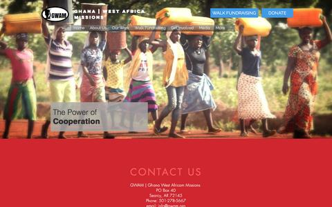 Screenshot of Contact Page gwam.org - GWAM | Ghana West Africa Missions | Well Drilling | Contacts - captured Nov. 6, 2016