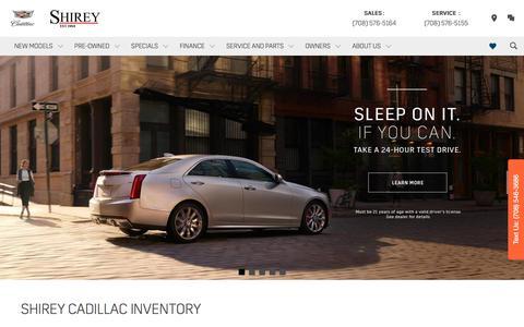Screenshot of Home Page shireycadillac.com - Shirey Cadillac in Oak Lawn | Cadillac Dealer near Orland Park & Chicago - captured June 12, 2017