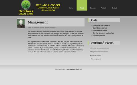 Screenshot of Team Page brotherslawncare.net - Brothers Lawn Care - captured Sept. 30, 2014