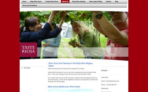 Screenshot of About Page tasterioja.es - Taste Rioja Wine Tours - captured Oct. 26, 2014