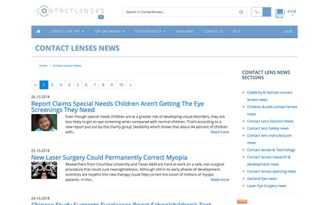 Screenshot of Press Page contactlenses.it - Contact Lenses News :: Buy Cheap Contact lenses in Italy - captured Oct. 29, 2018