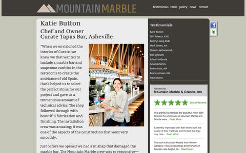 Screenshot of Testimonials Page mountainmarble.com - Mountain Marble - captured Oct. 21, 2017