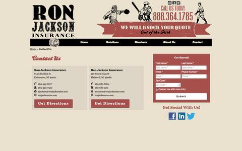 Contact Us | Ron Jackson Insurance Agency of Kalamazoo Michigan