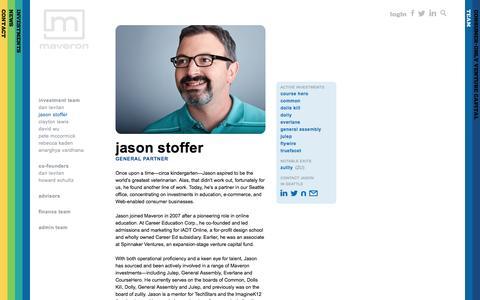 Jason Stoffer - Maveron