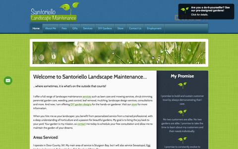 Screenshot of Home Page santoriellomaintenance.com - Santoriello Landscape Maintenance: Door County, WI. - captured Feb. 4, 2016
