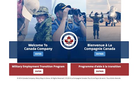 Screenshot of Home Page canadacompany.ca - Canada Company - captured Sept. 27, 2014