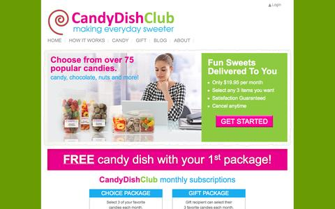 Screenshot of Menu Page candydishclub.com - CANDYDISHCLUB - captured Sept. 27, 2014
