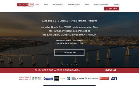 Screenshot of Home Page gradyfirm.com - gradyfirm - captured Oct. 18, 2018