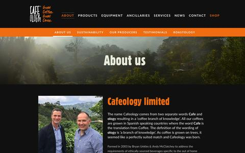 Screenshot of About Page cafeology.com - About us - Cafeology - captured Sept. 26, 2018