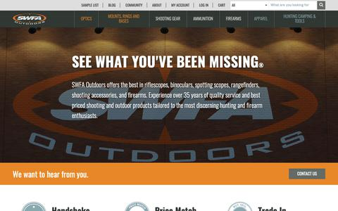 Screenshot of About Page swfa.com - About Us | SWFA Outdoors - captured Dec. 17, 2018