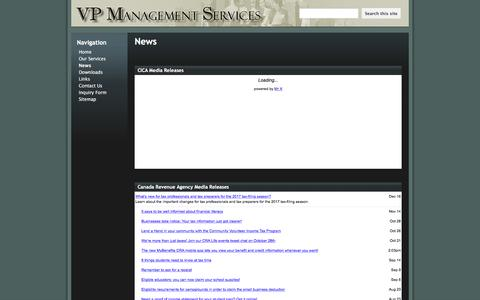 Screenshot of Press Page google.com - News - VP Management Services - captured Dec. 20, 2016