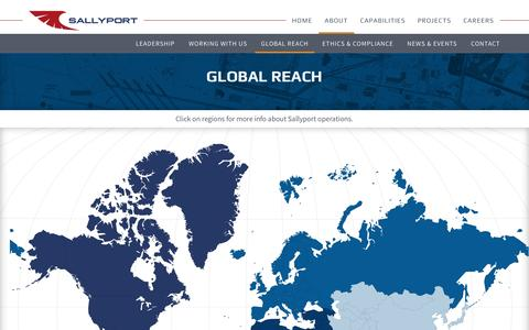 Screenshot of Maps & Directions Page sallyportglobal.com - Global Reach - Sallyport Global - captured May 27, 2017