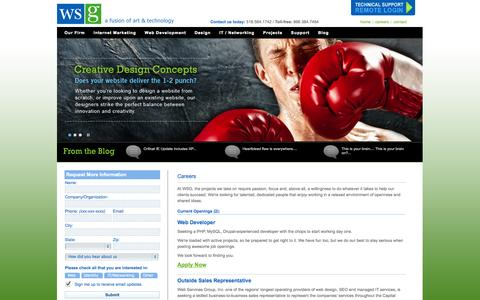 Screenshot of Jobs Page wsg.net - Albany, Troy, Schenectady Saratoga NY :: Web Site Design, Web Site Development, Web Hosting, Internet Marketing, SEO, Network Support and IT Consulting - captured Sept. 30, 2014
