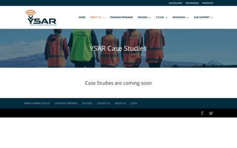 Screenshot of Case Studies Page ysar.org.nz - Case Studies | YSAR - captured Nov. 28, 2016