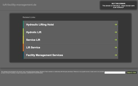 Screenshot of Home Page luft-facility-management.de - luft-facility-management.de - This website is for sale! - luft-facility-management Resources and Information. - captured Oct. 30, 2018