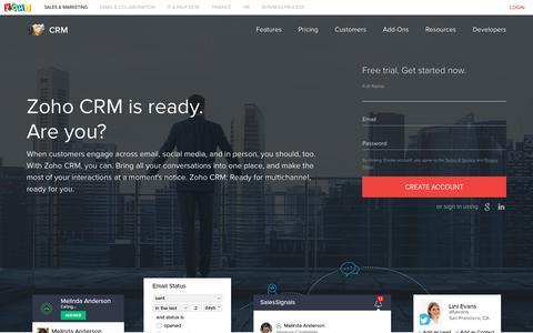 CRM Software | Customer Relationship Management System – Zoho CRM