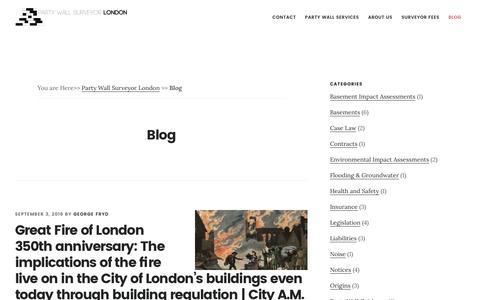 Screenshot of Blog partywallsurveyor-london.co.uk - Blog - Party Wall Surveyor - London - captured Oct. 8, 2016